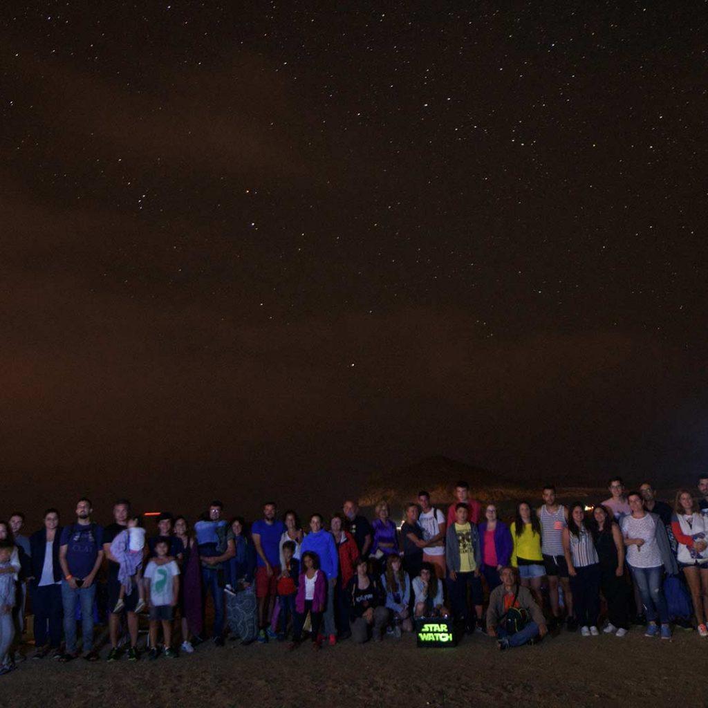 Grupo de astroturismo en cabo de gata