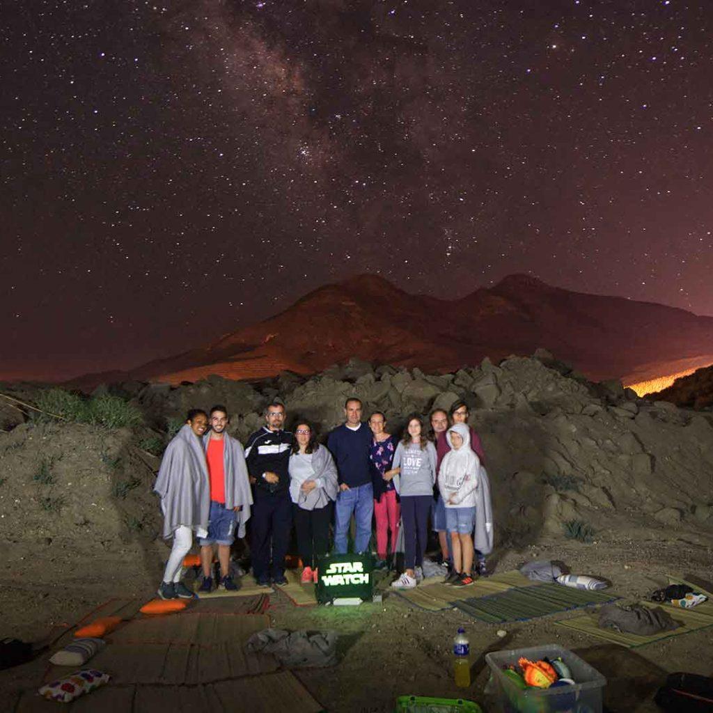 Grupo actividad telescopio