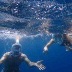 Disfrutando haciendo snorkel